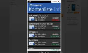 StarMoney App für Windows Phone 7