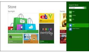 Screenshot vom Windows 8 Store