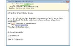 Strato Phishing Mail
