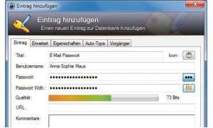 Perfekte Passwortkontrolle mit KeePass