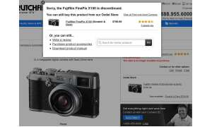 Crutchfield Online-Shop, Fujifilm X100