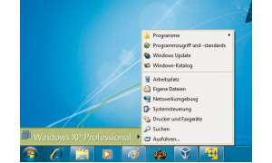 Windows 7 und Windows XP/Vista gemeinsam
