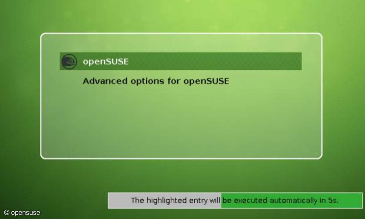 openSuse 12.2 Bootmanager Grub2