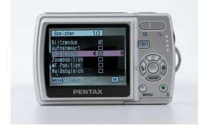 Pentax Optio M20 Bedienelemente