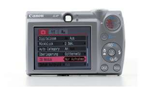 Canon Digital Ixus 850 IS Bedienelemente