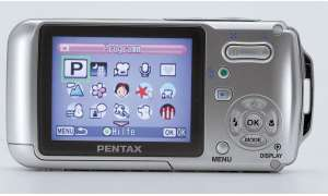 Pentax Optio W10 Display