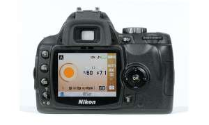 Nikon D60 Rückseite/ Display