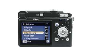 Nikon Coolpix P60 Rückseite/ Display