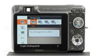 Sony Cybershot DSC-W300 Rückseite/ Display