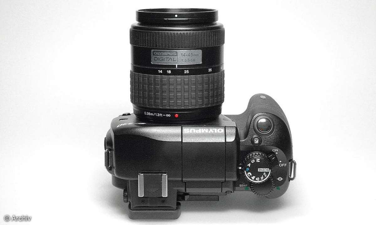 Olympus E-330 Top-View