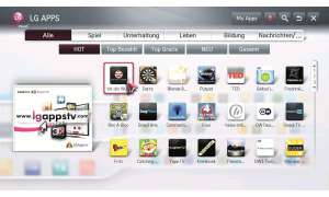 LG SP820 Apps