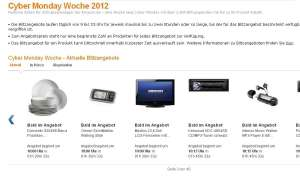 Der Amazon Cyber Monday 2012 läuft.