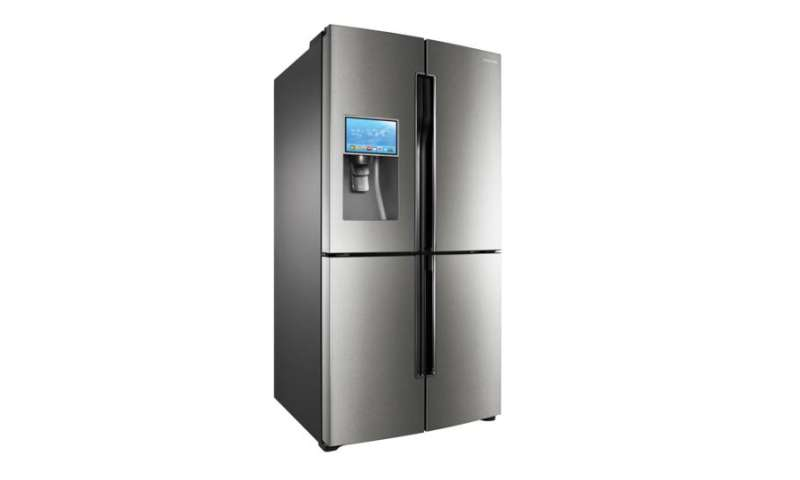 samsung smart fridge t9000 k hlschrank mit android pc magazin. Black Bedroom Furniture Sets. Home Design Ideas