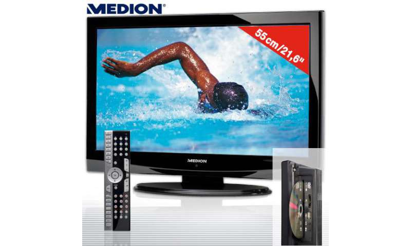 flat tv mit dvd dvb t usb bei aldi pc magazin. Black Bedroom Furniture Sets. Home Design Ideas