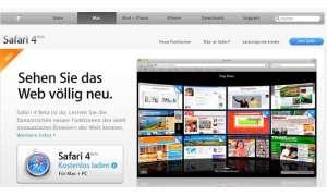 Einzeltest: Safari 4 Beta