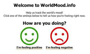Coole Websites: Worldmood.info