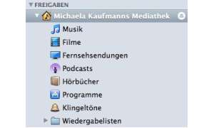 iTunes 9: Privatfreigabe