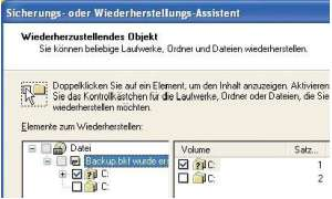 Backup mit Windows XP
