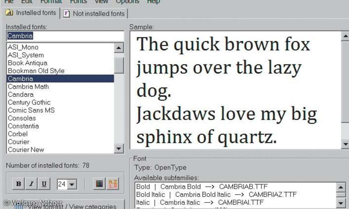 XP-Tuning: AMP Font Viewer