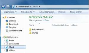 Windows 7 Bibliothek