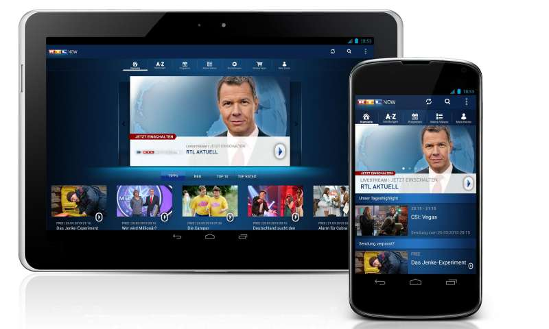 Rtl now jetzt auch als android app pc magazin for Rtl spiegel tv live