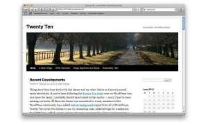 Twenty Ten Theme Wordpress