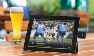 tablet, biergarten, tv