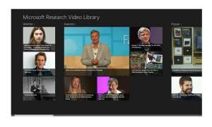 MSR Video Library App, Microsoft