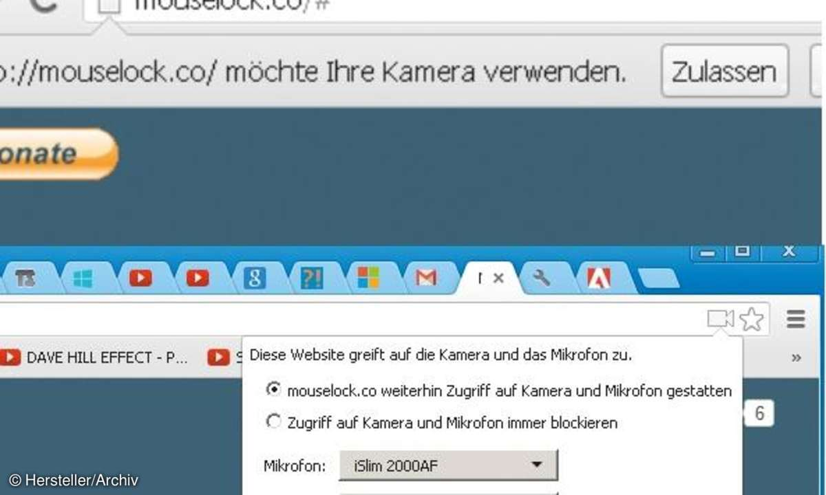 Chrome Browser Mouselock