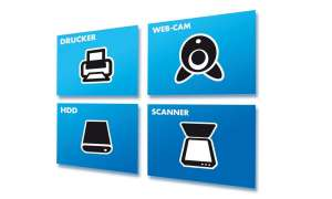 Drucker, Webcam, HDD, Scanner