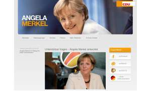 Angela Merkels Website