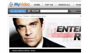 MyVideo zeigt Robbie Williams Video