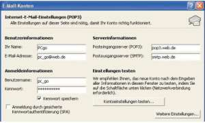FreeMails mit Outlook