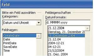 Feldfunktionen in Word