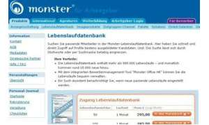 Monster - Lebenslaufdatenbank