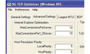 TCP Optimizer macht IE Beine