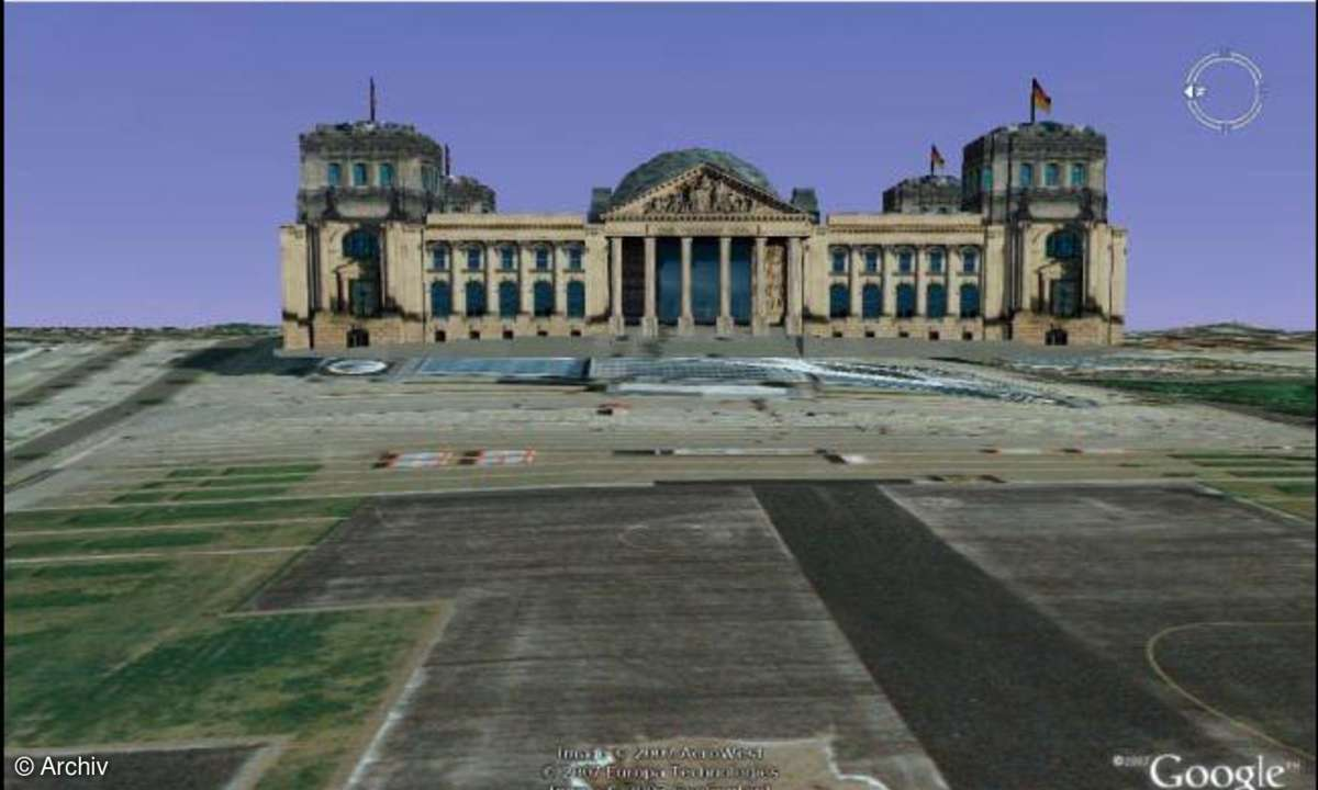 Google Earth: Reichstag in 3D