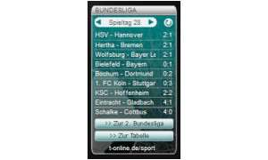 Vista-Gadget: Bundesliga Ticker