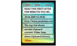 Vista-Gadget: Clipboard Manager